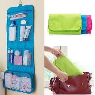 Lady Wash Bag Toiletry Cosmetic Travel Make Up Hanging Folding Pouch Organizer