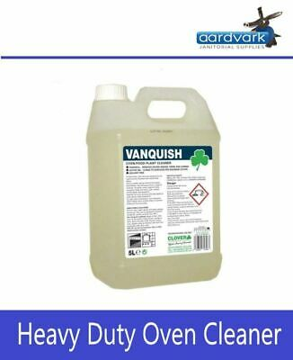 Vanquish Clover Heavy Duty Oven Kitchen Cleaner Degreaser 5L