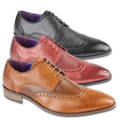 Mens Brogue Shoes Work Italy Office Wedding Casual Formal Smart Dress Shoes Size