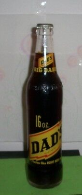 (1) Full (Root Beer) 1967 Dads Big Daddy Chicago IL 16oz ACL Soda Bottle *MINTY*