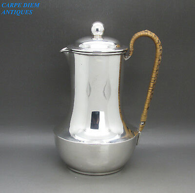 STYLISH NICE QUALITY HEAVY SOLID STERLING SILVER FILTER JUG 460g, SHEFFIELD 1922