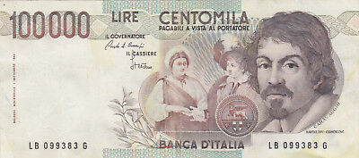 100 000 Lire Vf-Ef Crispy Banknote From Italy 1983!pick-110