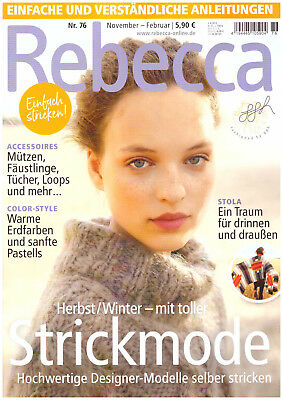 Rebecca Nr. 76 Strickmode Herbst/Winter 2018 Damen Strickanleitungen Stricken