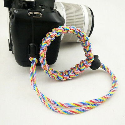 Colorful Hand-made Bracelet Parachute Rope Camera Wristband For Canon Nikon Z