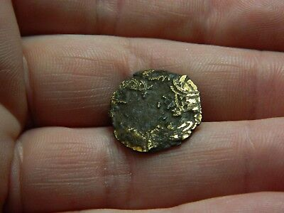 Rare Anglo Saxon gilt bronze twisted knot work mount Metal detecting detector