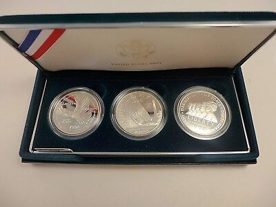 1994 U.S. Veteran Commemorative 3 Coin PROOF 90% Silver Dollar Set