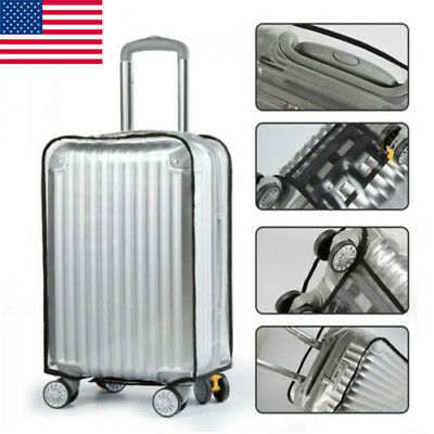 Transparent PVC Waterproof Protector Luggage Suitcase Dust Cover Good Quality US