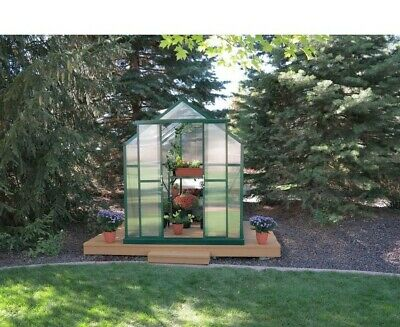 Element Heavy-Duty Aluminum 6 Ft. W x 4 Ft. D Greenhouse with Base