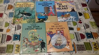 Tintin Books,collection Of 5,magnet Press ,please See Others