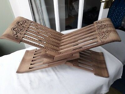 Hand Carved Wood Book stand/display stand  from Uzbekistan Multiple Positions