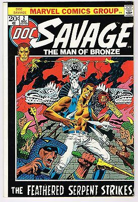 DOC SAVAGE MAN OF BRONZE #2 Marvel Comics 20 CENT 1972 BRONZE AGE NM- HIGH GRADE