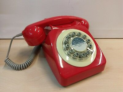 Retro 1960s GPO Style Wild & Wolf 746 Phone Red Boxed *Spares/Repair/Prop*