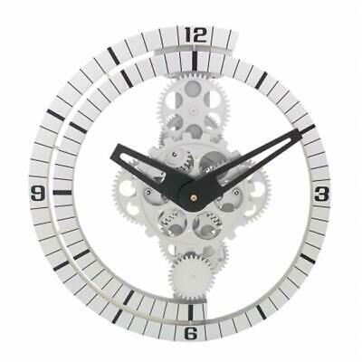 Maples Clock GCL06-37 Moving Gear Wall Clock with Spiral Bezel