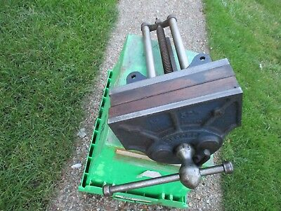 """Record Carpenters Vice No 52 1/2 with 9"""" Jaws Quick Release"""