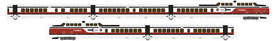 Rapido 520503, N Scale, TurboTrain, Early Amtrak / US DOT, DCC & Sound Equipped