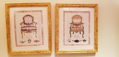 Dollhouse  Mcbay~Set 2 Chair Pictures~~~ #3