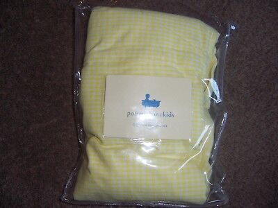 Pottery Barn Kids Gingham yellow hamper liner size small new