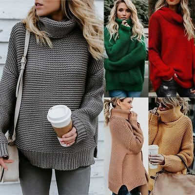 f731e0826aa Women Winter Warm Turtleneck Chunky Knitted Sweater Thicken Pullover Jumper  Tops