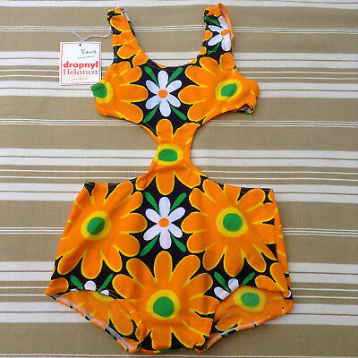 FRENCH 1960s GIRL PIECE SWIMWEAR BATHING SUIT - POWER FLOWER - COLLECTOR - NWT-8