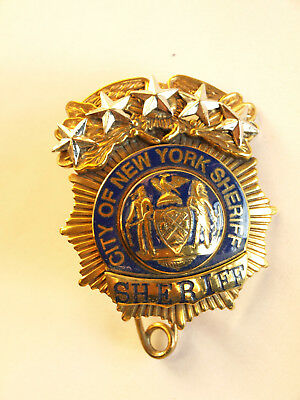"""BADGE NEW YORK CITY SHERIFF DEPARTMENT """" SHERIFF """" kein NYPD superselten !"""