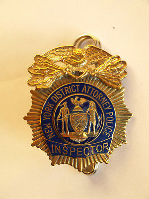 """BADGE NEW YORK CITY DISTRICT ATTORNEY POLICE """" INSPECTOR """" - kein NYPD"""