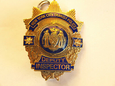 """BADGE NEW YORK CITY TRANSIT POLICE """" DEPUTY INSPECTOR """" kein NYPD"""