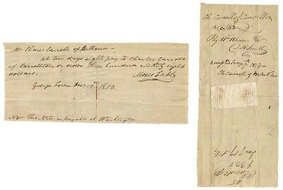 Draft Signed by Signer of the Declaration Charles Carroll of Carrollton