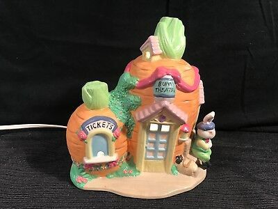 Cottontale Cottages Bunny Theater Easter Village LIGHTED PORCELAIN HOUSE Jo-Ann