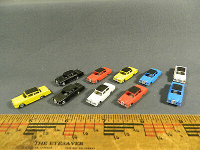 N Scale Accessories LOT of TEN (10) ASSORTED COLORS MERCEDES BENZ
