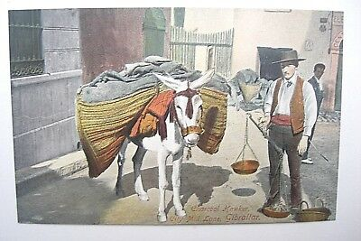 Charcoal Hawker Donkey City Mill La Local Publisher Benzaquen & Co Gibraltar VGC