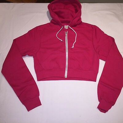 CLEARANCE Ladies AWDiS Girlie cropped hoodie. Hot Pink L/14 x 24. R13.