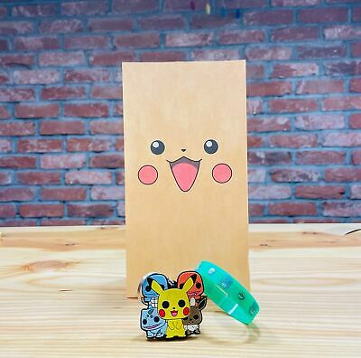 POKEMON Birthday Party Bag with fillers/favours - Balloon, sticker, Minifigure