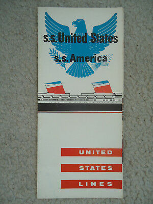 United States Lines - ss United States / ss America - Brochure - 1960