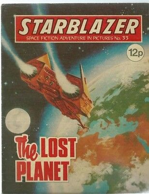 The Lost Planet,starblazer Space Fiction Adventure In Pictures,comic,no.33