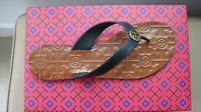 04727abca91 NIB TORY BURCH 9M Maritime Thong Sandals In NAVY SEA and WHITE ...