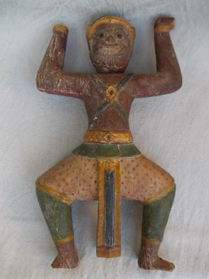 253 / A 17Th / 18Th Century South East Asian Hand Carved Wooden Mythical Figure