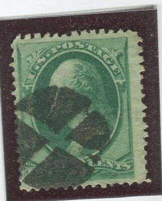 U.S. Stamps Scott #136 H.Grill 10x12mm,Used,FIne+,Clear Grill  (G7291N)
