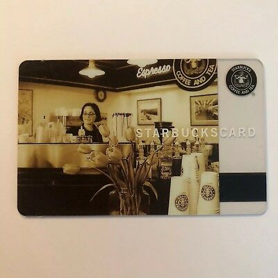 Starbucks Gift Card Pike Place Barista Rare Collectible 2006