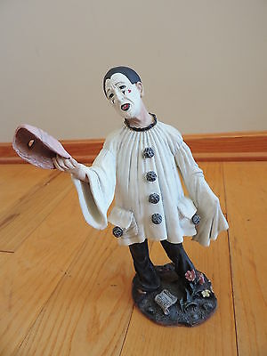 Pierrot Mime Clown Duncan Royale Figurine Statue Limited Edition RARE (a950)