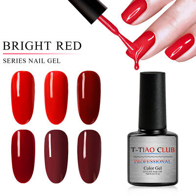 T-TIAO CLUB Classic Gel Nail Polish Soak off UV Gel Manicure Party Show Nude Red