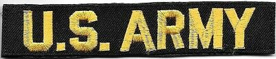 US ARMY Distinguishing Name Tape Gold on Black Patch VELCRO® BRAND Hook Fastener