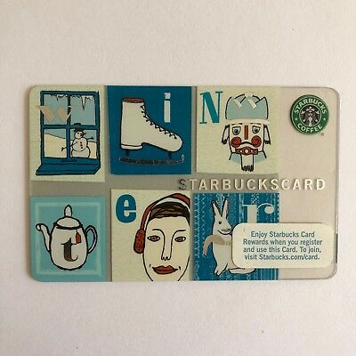 Starbucks Gift Card 2008 Winter Never Used Rare Collectible!