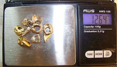 12.64 Grams Of Dental Gold, No TEETH Attached