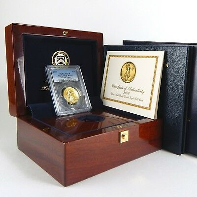 2009 $20 Ultra High Relief UHR Double Eagle Gold PCGS MS70 Box Book COA A6530