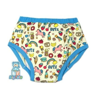 adult CUTE w/cute things training diaper incontinence pants autistic