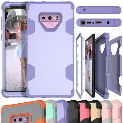 Slim Shockproof Rugged Hybrid Rubber Back Cover Case For Samsung Galaxy Note 9 8