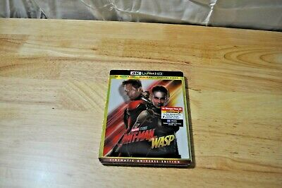 Marvel Antman And The Wasp 4K Ultra Hd+Blu Ray+Digital Code With Slipcover *new*