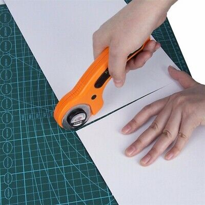 Rotary Cutter with 45mm Blades Set Sewing Quilters Fabric Cutting Leather Craft