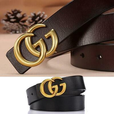 Ladies Double G Alloy Buckle Leather Material Durability With Thin Belt 2.8cm AU