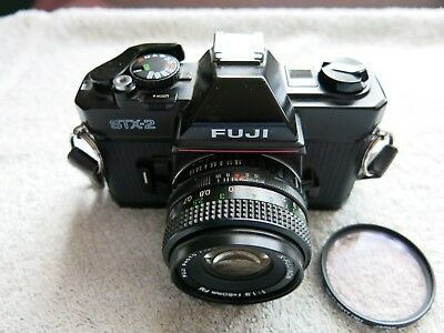FUJI STX-2 SLR 35mm FILM CAMERA WITH X-FUJINON 1:1.9  f = mm FM LENS WORK GOOD